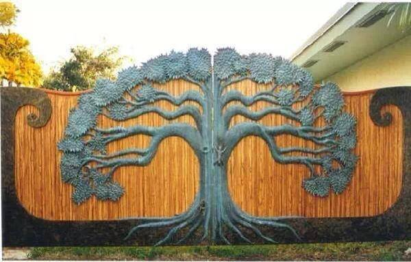 tree gate home design